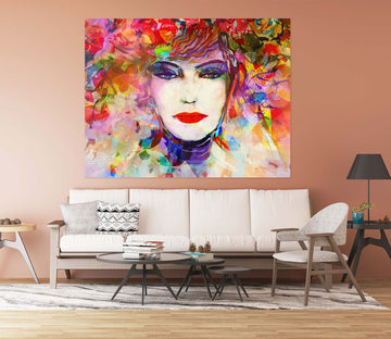 3D Graffiti Woman 1008 Wall Sticker
