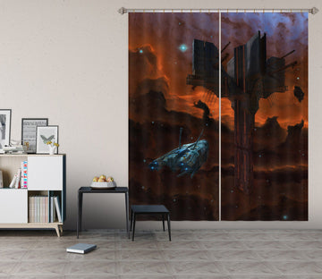 3D Alien Artifact 007 Vincent Hie Curtain Curtains Drapes Curtains AJ Creativity Home