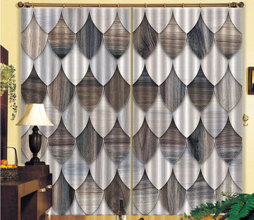 3D Ellipse Stitching 50 Curtains Drapes