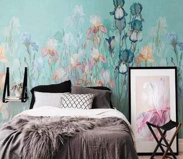 3D Flower Butterfly 1248 Wall Murals