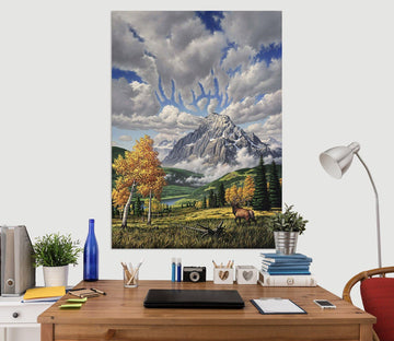 3D Autumn Canyon 027 Jerry LoFaro Wall Sticker Wallpaper AJ Wallpaper 2