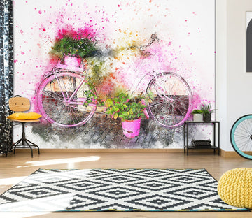 3D Colour Bicycle 922 Vehicle Wall Murals