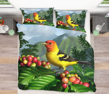 3D Western Tanager 18076 Jerry LoFaro bedding Bed Pillowcases Quilt