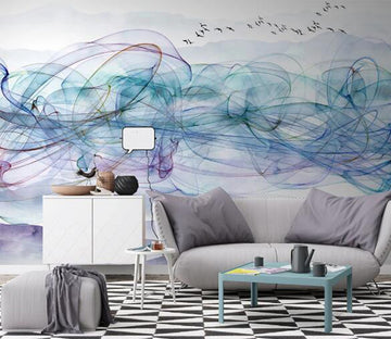 3D Graffiti Blue WC1261 Wall Murals