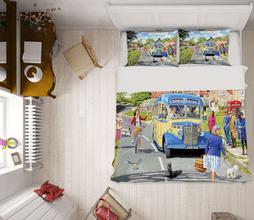 3D The Village Bus Stop 2072 Trevor Mitchell bedding Bed Pillowcases Quilt