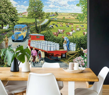 3D The Country Bus 1058 Trevor Mitchell Wall Mural Wall Murals