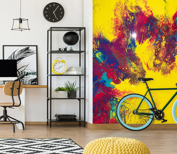 3D Colorful Pattern 40044 Euphoric Pouring Wall Mural Wall Murals