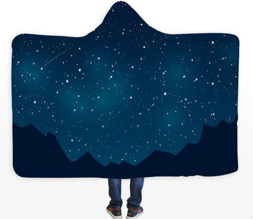 3D Star Mountain 118 Hooded Blanket