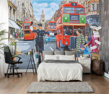 3D WPC On Ludgate Hill 1077 Trevor Mitchell Wall Mural Wall Murals