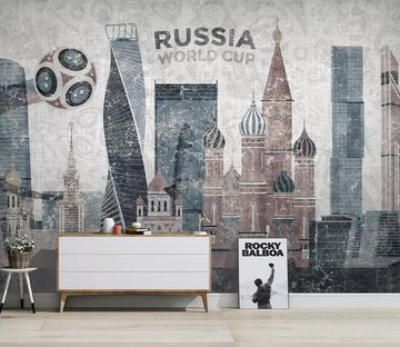 3D Palace Football WC749 Wall Murals