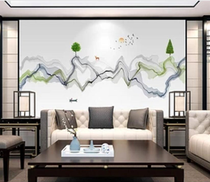 3D Small Green Tree 1719 Wall Murals