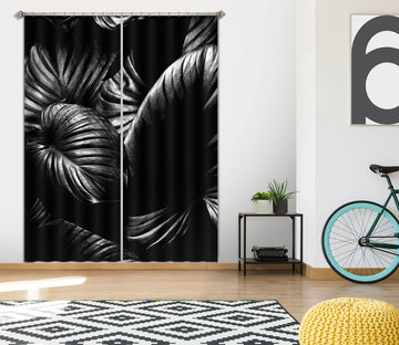 3D Gloomy Leaf 1141 Boris Draschoff Curtain Curtains Drapes