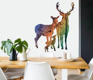 3D Shadow Deer 50 Wall Stickes