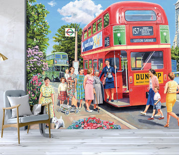 3D The Bus Conductress 1057 Trevor Mitchell Wall Mural Wall Murals