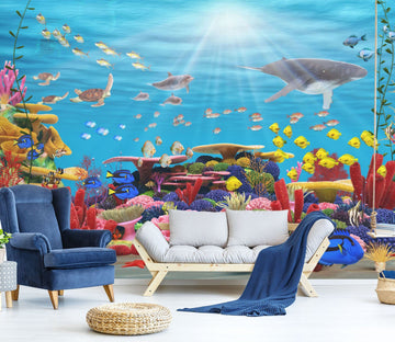 3D Sunshine Sea Bottom Fish 572 Wallpaper AJ Wallpaper 2