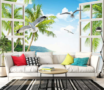 3D Coconut Palm Tree 1450 Wall Murals