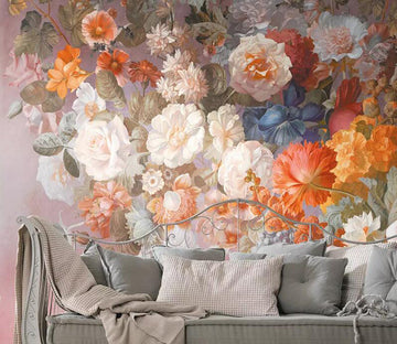 3D Colored Flowers 1255 Wall Murals