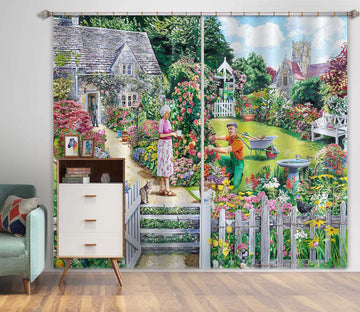 3D Cottage Garden 096 Trevor Mitchell Curtain Curtains Drapes