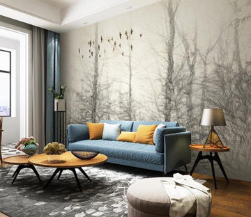 3D Sketch Forest WC1271 Wall Murals