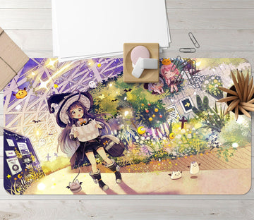 3D Little Witch 6539866 Desk Mat