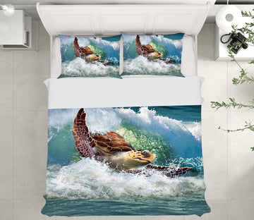 3D SeaTurtle 2108 Jerry LoFaro bedding Bed Pillowcases Quilt