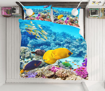3D Sea Fish 21035 Bed Pillowcases Quilt