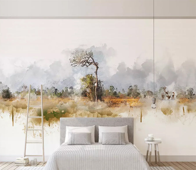 3D Forest Tree 1508 Wall Murals