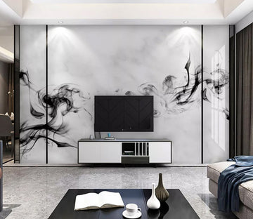 3D Black Ink Painting WC2132 Wall Murals