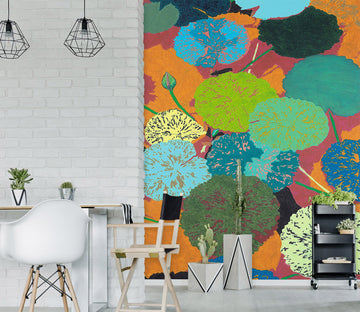 3D Colored Pond 288 Allan P. Friedlander Wall Mural Wall Murals