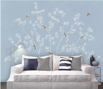 3D Bamboo Bird 2038 Wall Murals