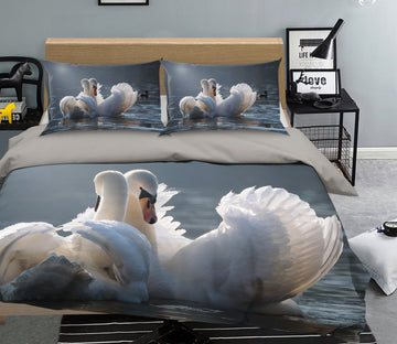 3D Swan 1997 Bed Pillowcases Quilt