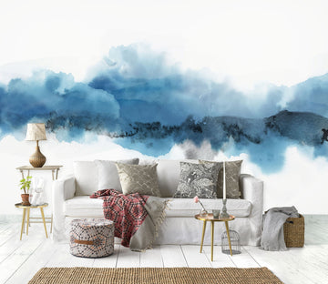 3D Blue Ink Pattern 1424 Wall Murals