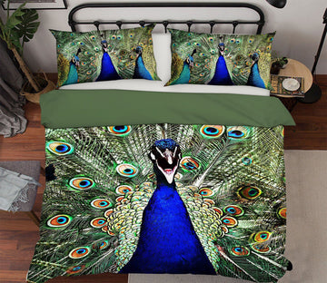3D Peacock 1981 Bed Pillowcases Quilt