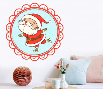 3D Santa Claus Lace 36 Wall Stickers Wallpaper AJ Wallpaper
