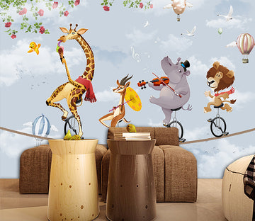 3D Cute Animal WC037 Wall Murals