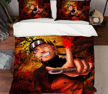 3D Naruto 8 Anime Bed Pillowcases Quilt