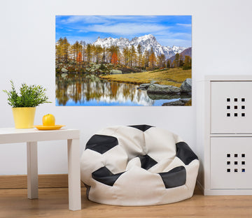 3D Valley Lake 182 Marco Carmassi Wall Sticker