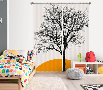 3D Dead Tree 1120 Boris Draschoff Curtain Curtains Drapes
