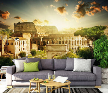 3D Ancient Rome Architecture 1491 Wall Murals Wallpaper AJ Wallpaper 2