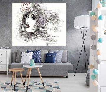 3D Painting Woman 1009 Wall Sticker