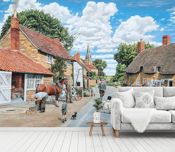 3D The Village Farrier 1072 Trevor Mitchell Wall Mural Wall Murals