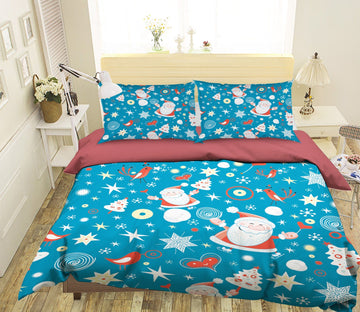 3D Christmas Little Old Man 38 Bed Pillowcases Quilt