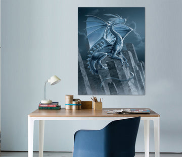 3D Silver Dragon 072 Vincent Hie Wall Sticker