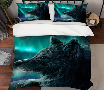 3D Wolf 21016 Bed Pillowcases Quilt
