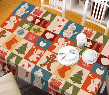 3D Palace Christmas Pattern 31 Tablecloths Tablecloths AJ Creativity Home