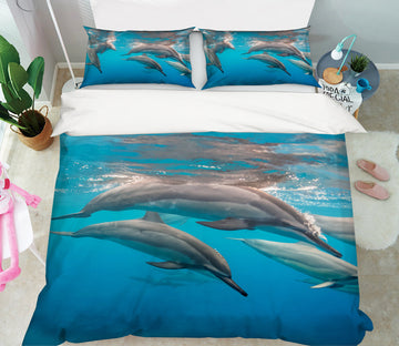 3D Dolphin 21037 Bed Pillowcases Quilt