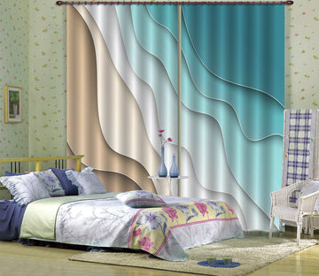 3D Sea Pattern Wave 47 Curtains Drapes