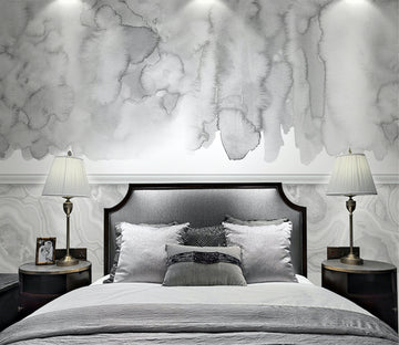 3D Gray Blooming WG119 Wall Murals