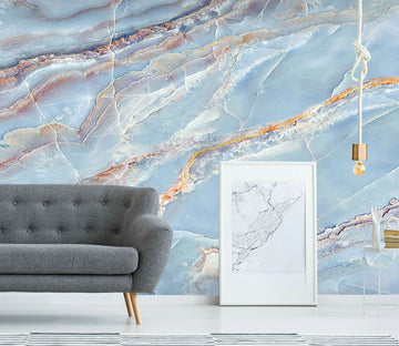 3D Light Blue Marbling 838 Wall Murals