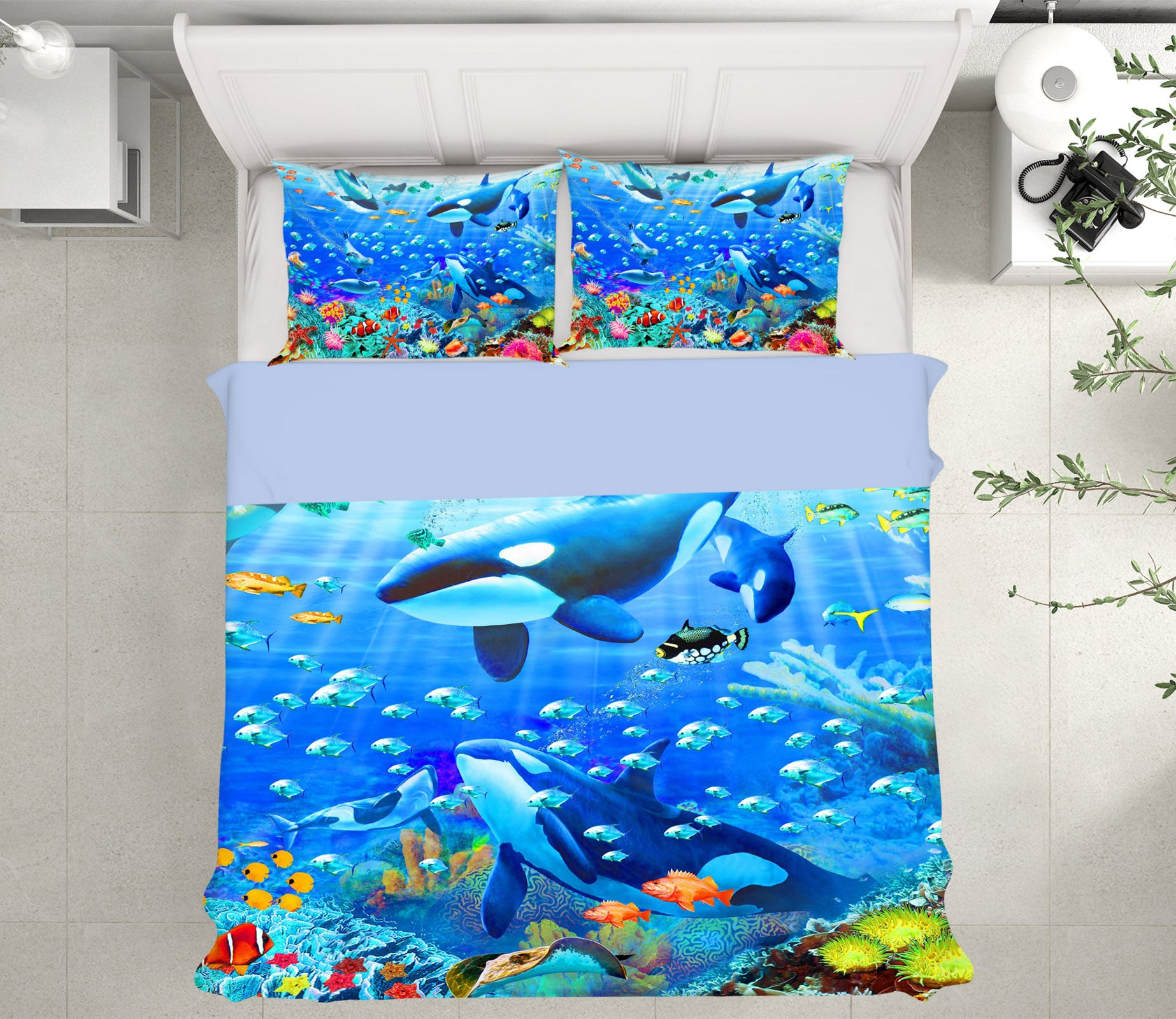 3D Blue Whale 2032 Adrian Chesterman Bedding Bed Pillowcases Quilt